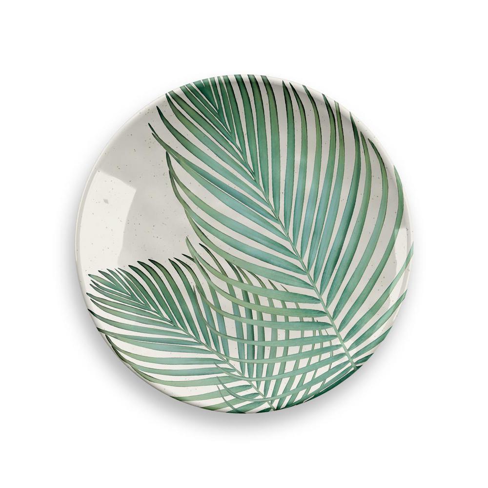 Amazon Floral Bamboo Fiber Assorted Salad Plates (Set of 4)