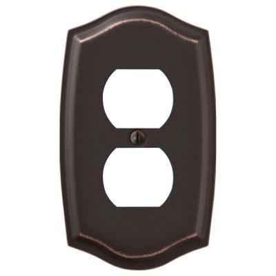 Vineyard 1 Gang Duplex Steel Wall Plate - Aged Bronze