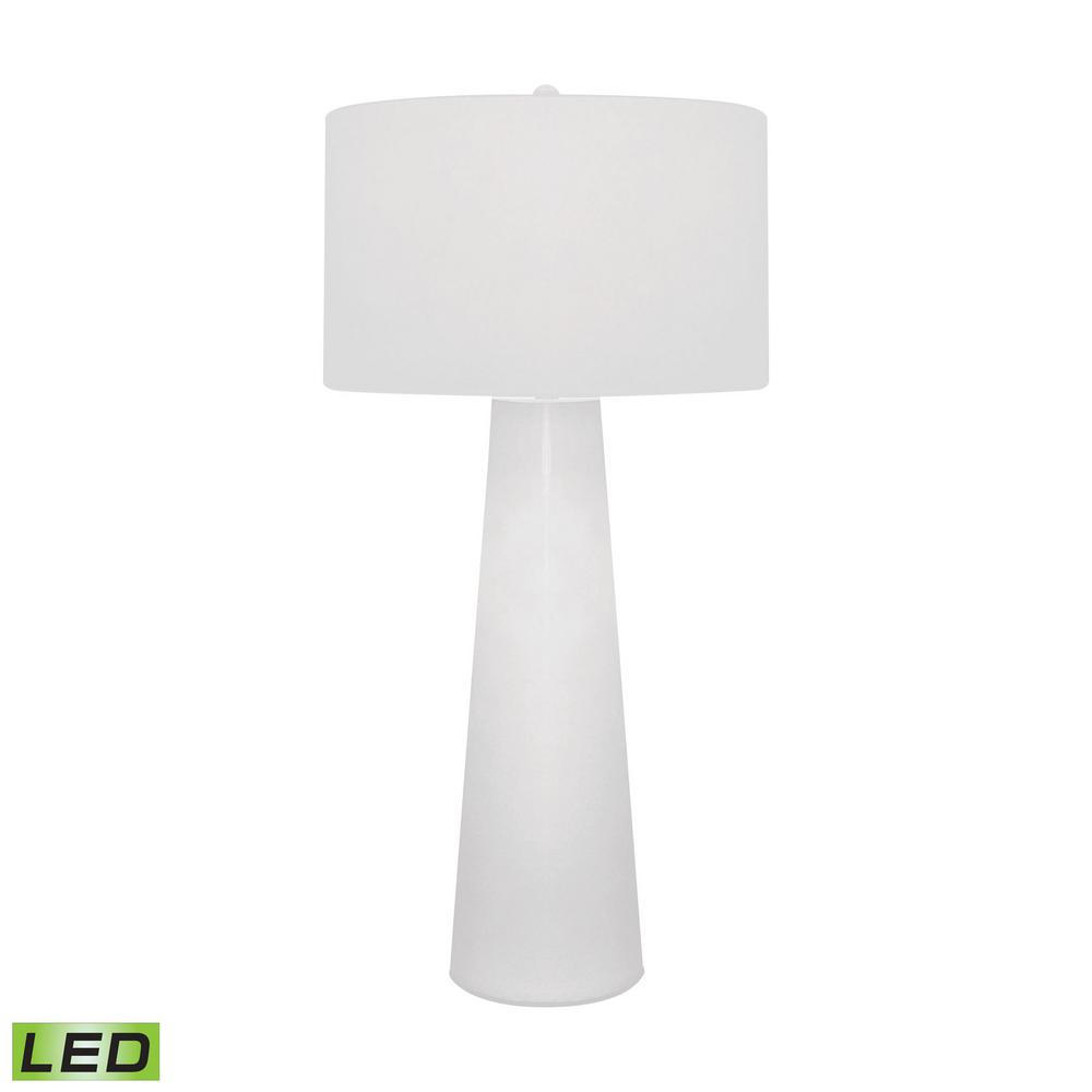 White Obelisk LED Table Lamp With Night Light TN 891558   The Home Depot