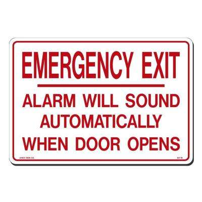 14 in. x 10 in. Emergency Exit Sign Printed on More Durable, Thicker, Longer Lasting Styrene Plastic
