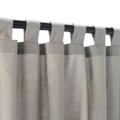 50 in. x 108 in. Outdoor Single Curtain with Tabs in Dove