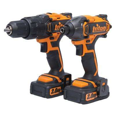 20-Volt Lithium-Ion Cordless Hammer Drill and Impact Driver Combo Kit (2-Pack)