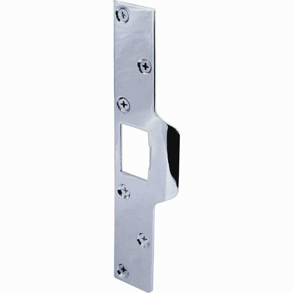 Prime Line Maximum Security Chrome Deadlatch Strike Plate
