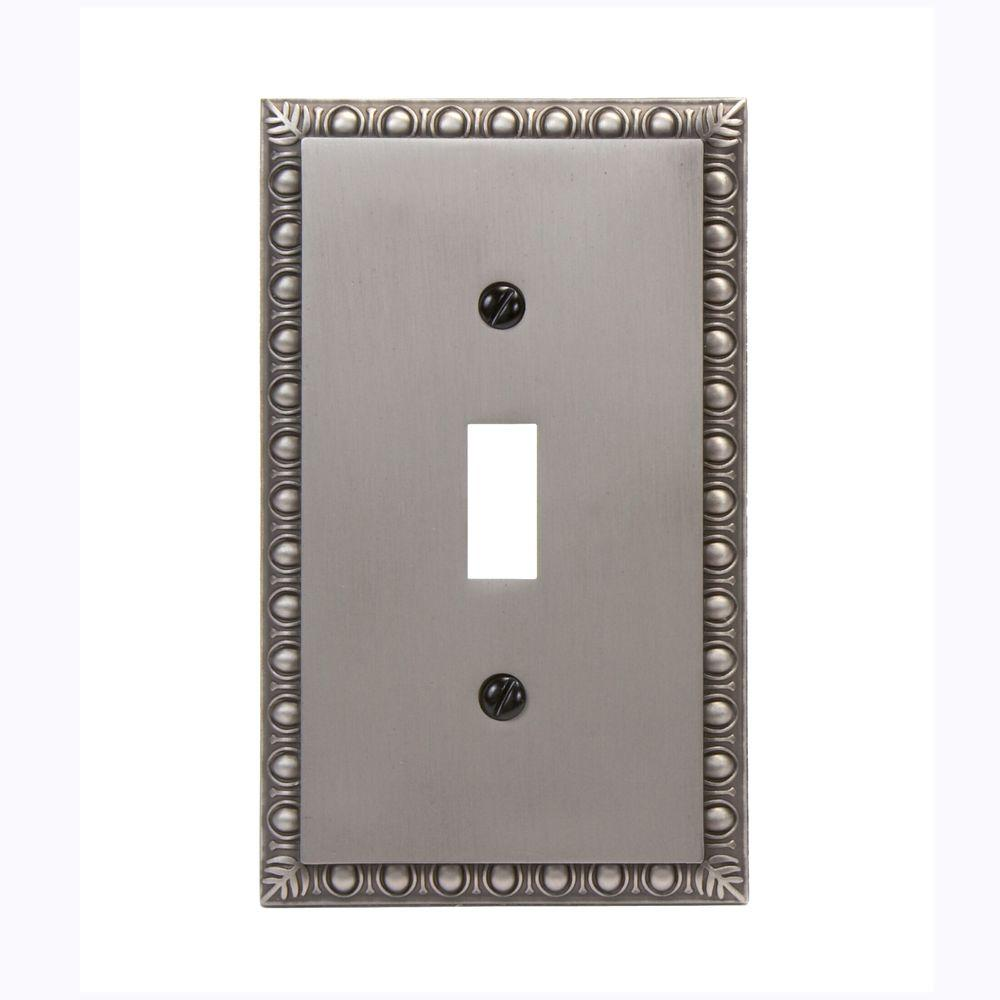 Amerelle Renaissance 1 Toggle Wall Plate - Antique Nickel