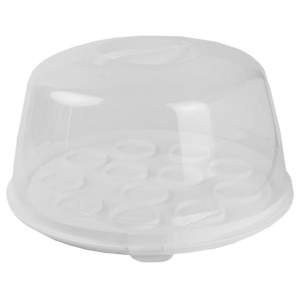 Home Basics 14 in. Clear Cake Cover BW01476