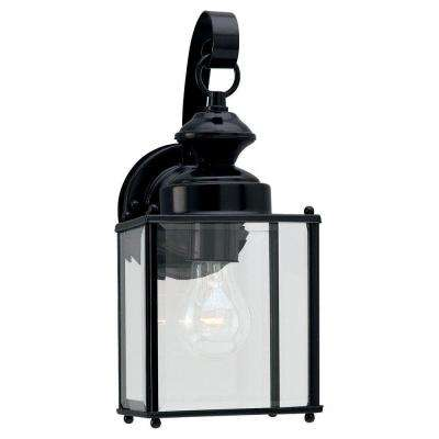 Jamestowne Collection 1-Light Outdoor Black Wall Lantern