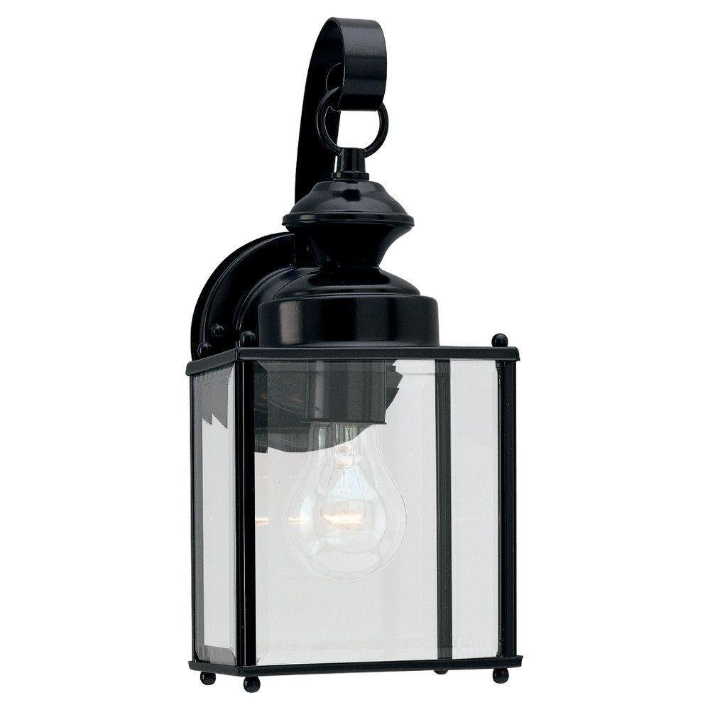 Jamestowne Collection Medium 1-Light Outdoor Black Wall Mount Lantern