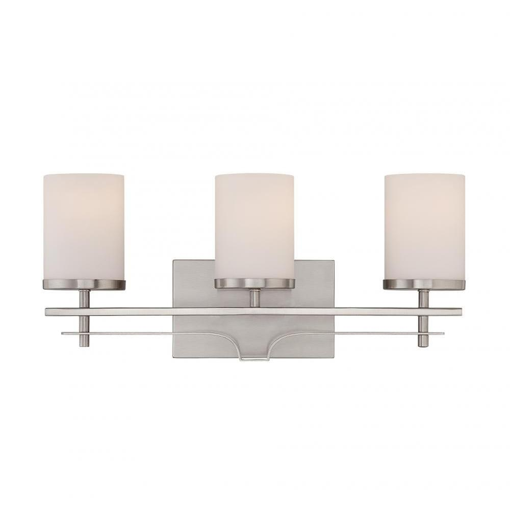 Filament Design Miles 3 Light Satin Nickel Bath Vanity Light Cli Sh0248375 The Home Depot