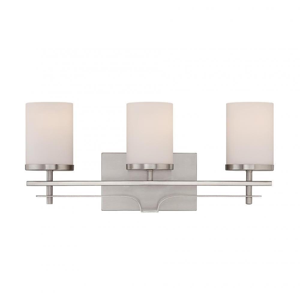 Filament Design Miles 3 Light Satin Nickel Bath Vanity Light Cli Sh0248375 The Home Depot