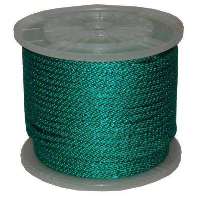 3/8 in. x 300 ft. Solid Braid Multi-Filament Polypropylene Derby Rope in Green