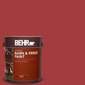Behr 1 Gal Red Barn And Fence Exterior Paint 02501 The