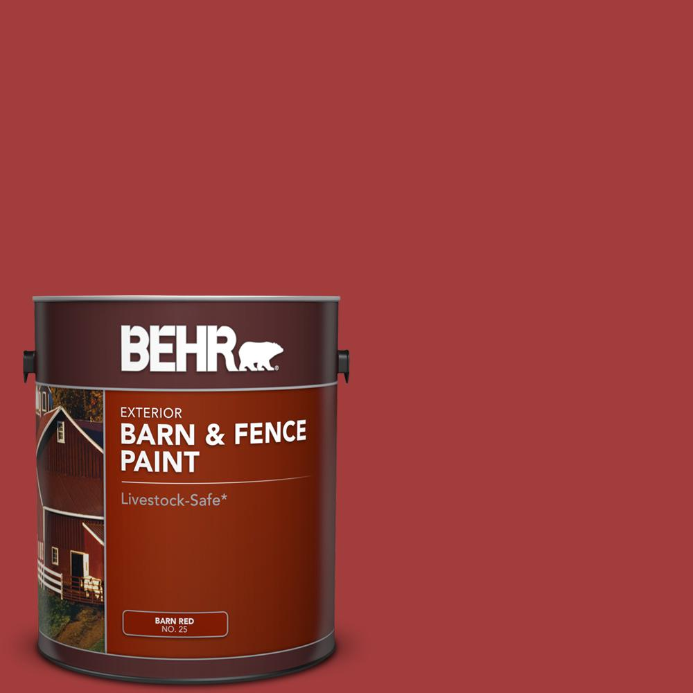 Red Barn And Fence Exterior Paint