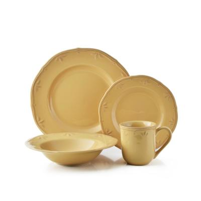 16-Piece Sicily Caramel Stoneware Dinnerware Set (Service for 4)
