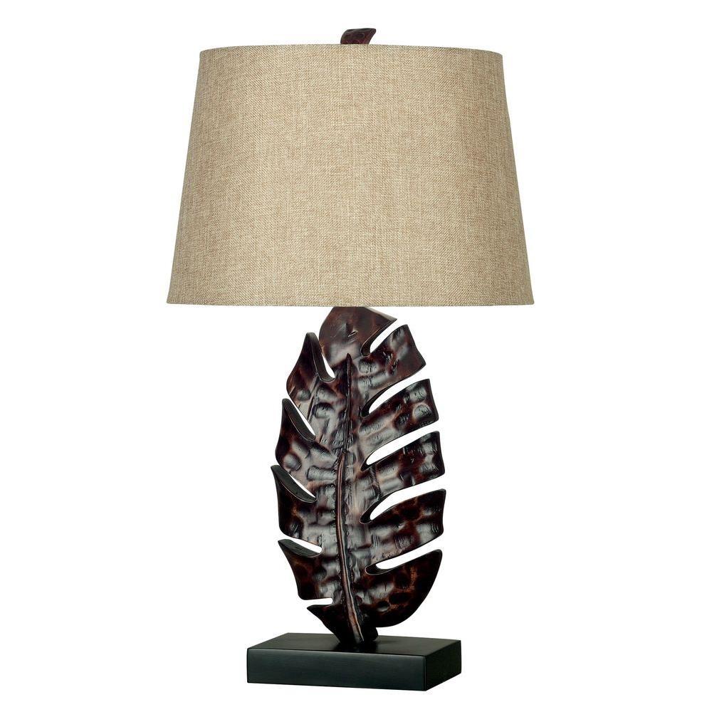 Kenroy Home Frond 26 in. Mottled Bronze Table Lamp