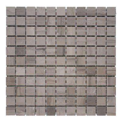 Haisa Marble Dark 12 in. x 12 in. x 6.35 mm Marble Mesh-Mounted Mosaic Tile (10 sq. ft. / case)