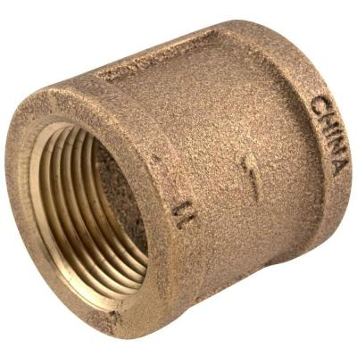 1 in. x 3/4 in. FIP Red Brass Reducing Coupling Fitting
