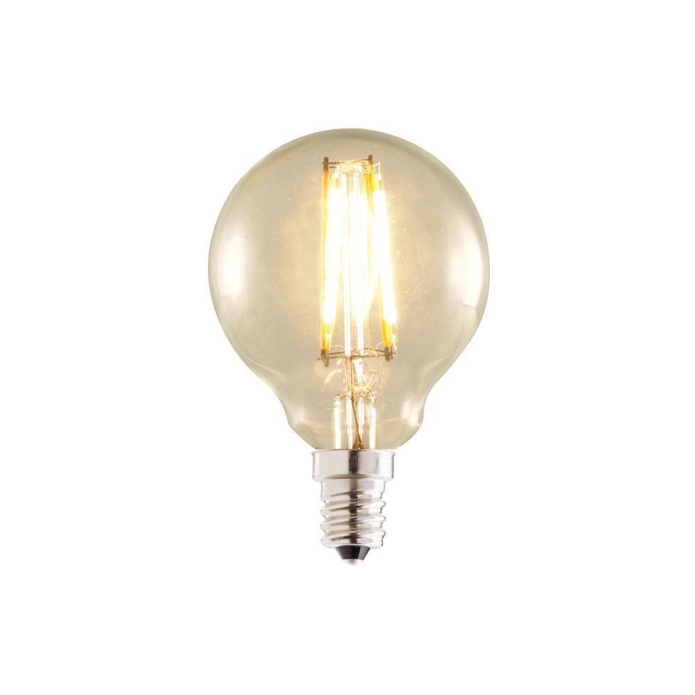 Bulbrite 40w Equivalent Warm White Light G16 Dimmable Led: Bulbrite 25-Watt Equivalent G16 Dimmable LED Filament