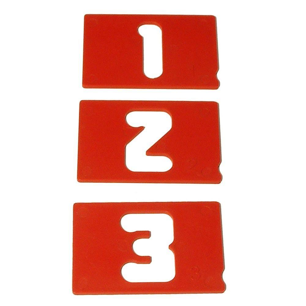 Milescraft 2-1/2 in. Vertical Number Template Set
