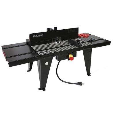 34 in. x 13 in. DIY Woodworking Aluminum Benchtop Router Table