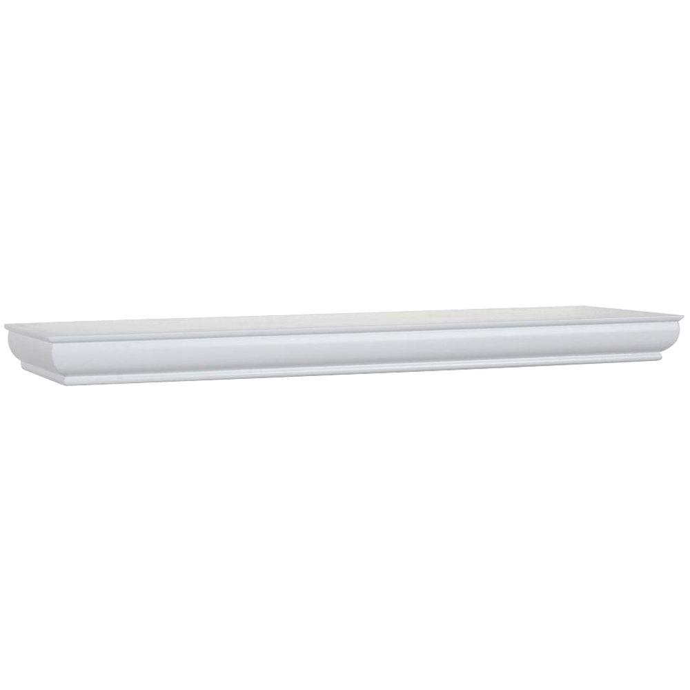 23 in. x 4 in. Floating White Decorative Ledge