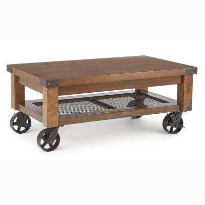 Hailee Distressed Oak Cocktail Table