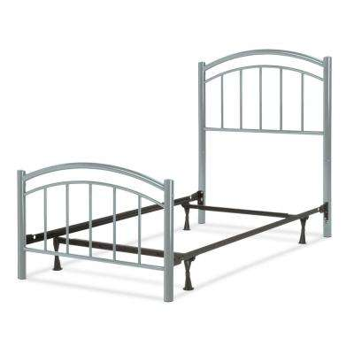 Rylan Shadow Grey Full Kids Bed with Metal Duo Panels