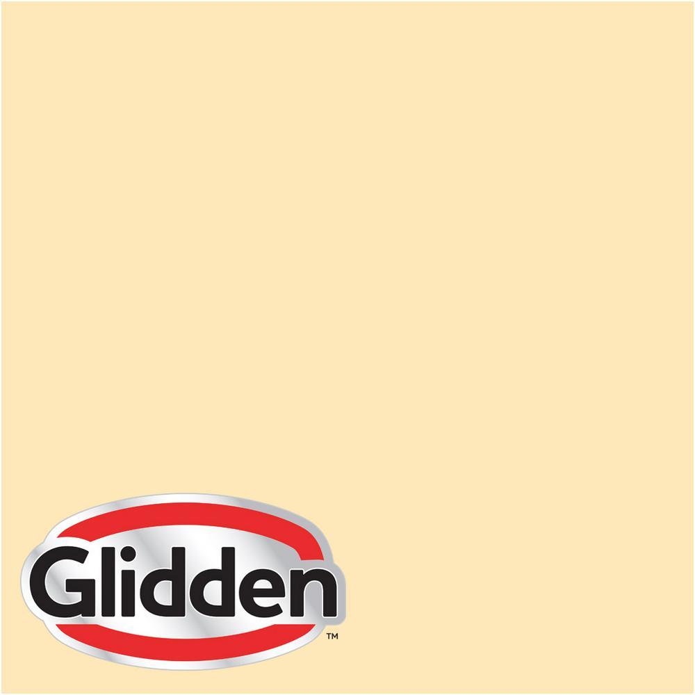 8 oz. #HDGY19U Sweet Buttercup Flat Interior Paint Sample