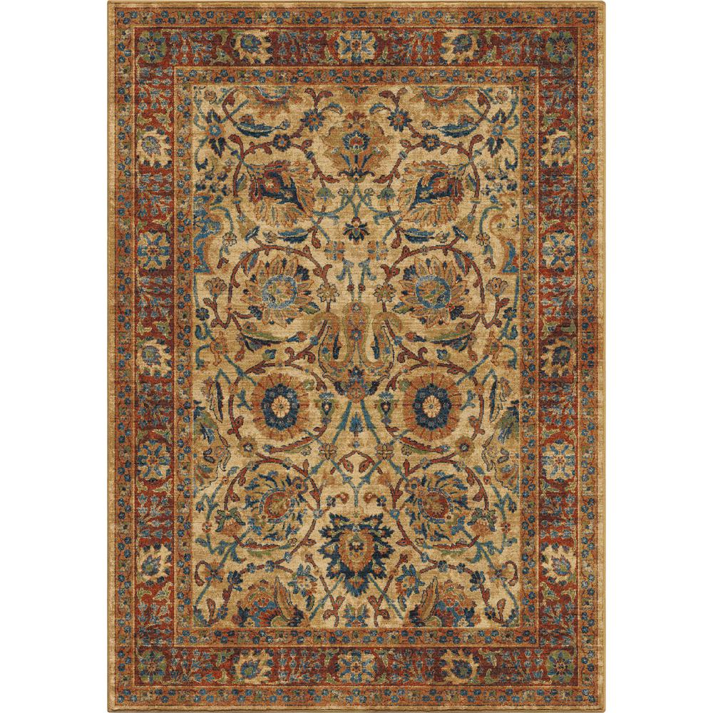 Orian Rugs Border Moroccan Traditional Multi 5 Ft. 3 In. X