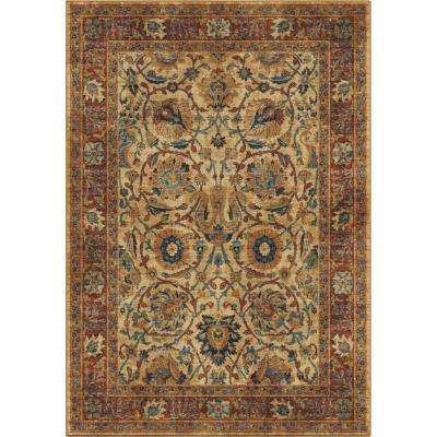 Border Moroccan Traditional Multi 5 ft. 3 in. x 7 ft. 6 in. Area Rug