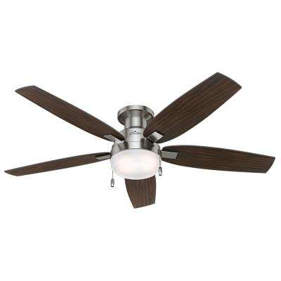Duncan 52 in. LED Indoor Brushed Nickel Ceiling Fan Bundled with Light and Handheld Remote Control