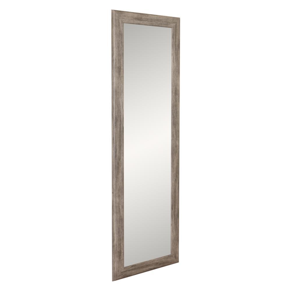 Brandtworks Weathered Barn Wood Slim Floor Mirror