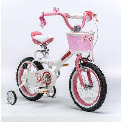 Jenny Princess Pink Girl's Bike with Training Wheels and Basket, 14 in. Wheels