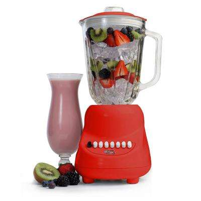 10-Speed Red Blender with 48 oz. Glass Jar