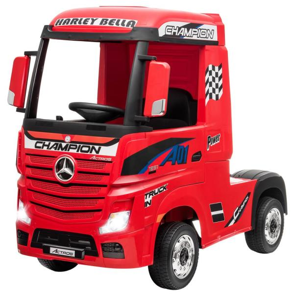 9.6 in. 3-Years to 8-Years Car Mercedes Benz Actros Electric Kids Ride on Truck