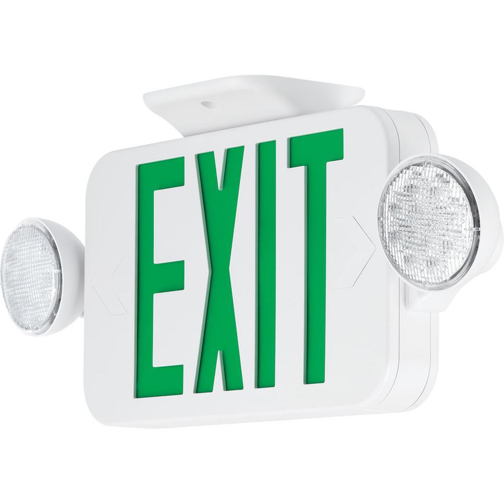 Progress Lighting 120-Volt White Integrated LED Exit Sign