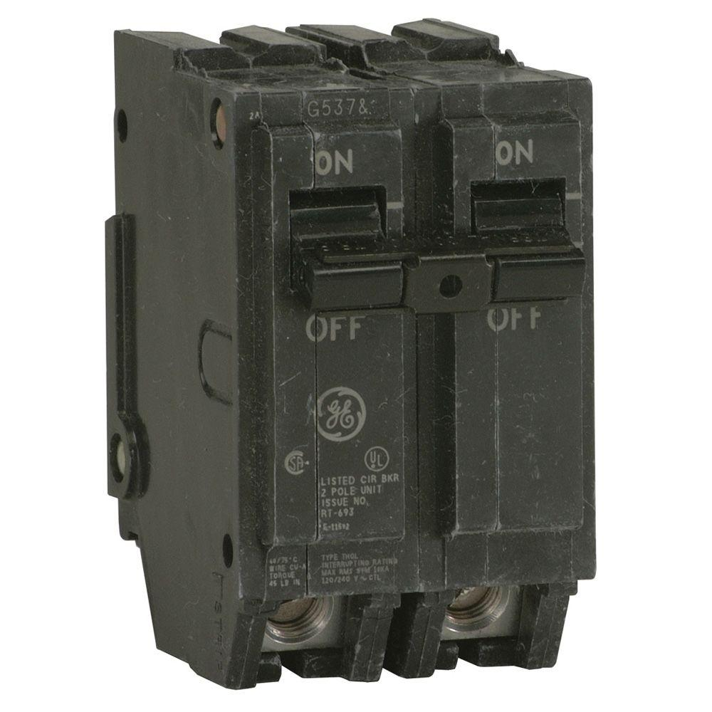 GE Q-Line 125 Amp 2 in. Double Pole Circuit Breaker