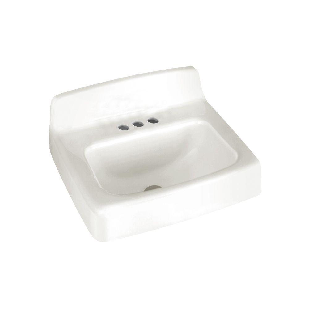 American Standard Regalyn Wall Mounted Bathroom Sink In White