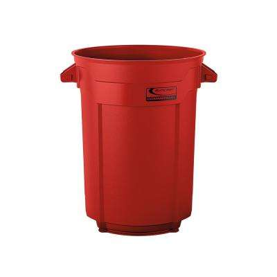 55 Gal. Red Commercial Trash Can