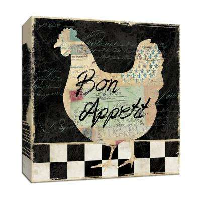15 in. x 15 in. ''French Hen'' Canvas Wall Art