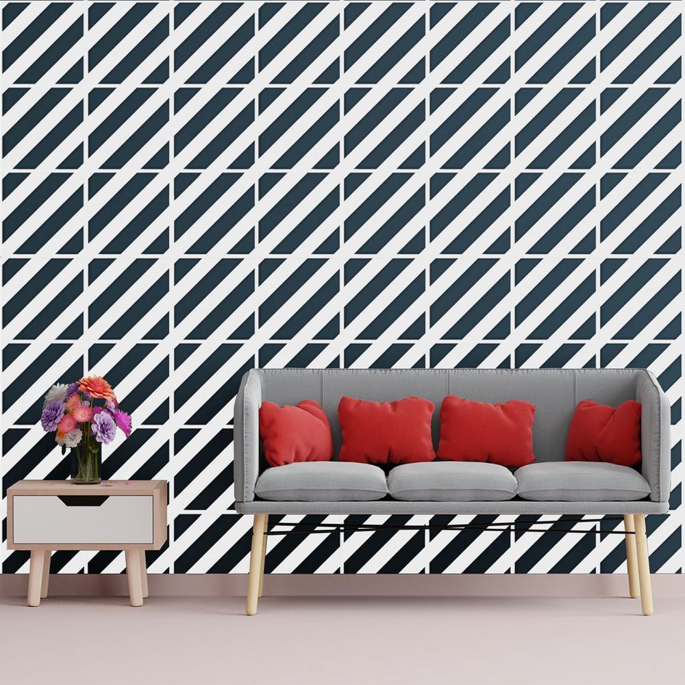 3/8 in. x 15-3/4 in. x 15-3/4 in. Medium Strymon White Architectural Grade PVC Decorative Wall Panels