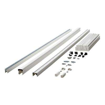 Symmetry 8 ft. Tranquil White Capped Composite Line/Stair Rail Section with 35.5 in. Balusters