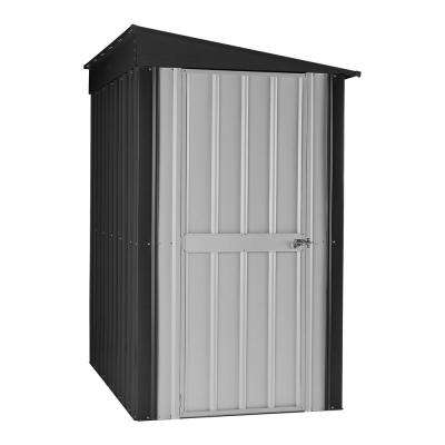 Lean-to 4 ft. x 6 ft. Anthracite Gray Aluminum White Storage Shed