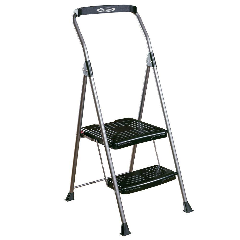 Astounding Werner 8 Ft Reach 2 Step Steel Podium Step Stool Beatyapartments Chair Design Images Beatyapartmentscom