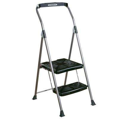 8 ft. Reach 2-Step Steel Podium Step Stool
