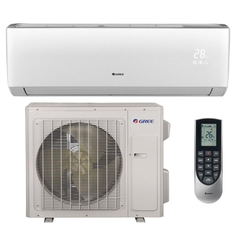 Gree Vireo 28000 Btu Ductless Mini Split Air Conditioner And Heat Pump 230 Volt Vir30hp230v1a The Home Depot
