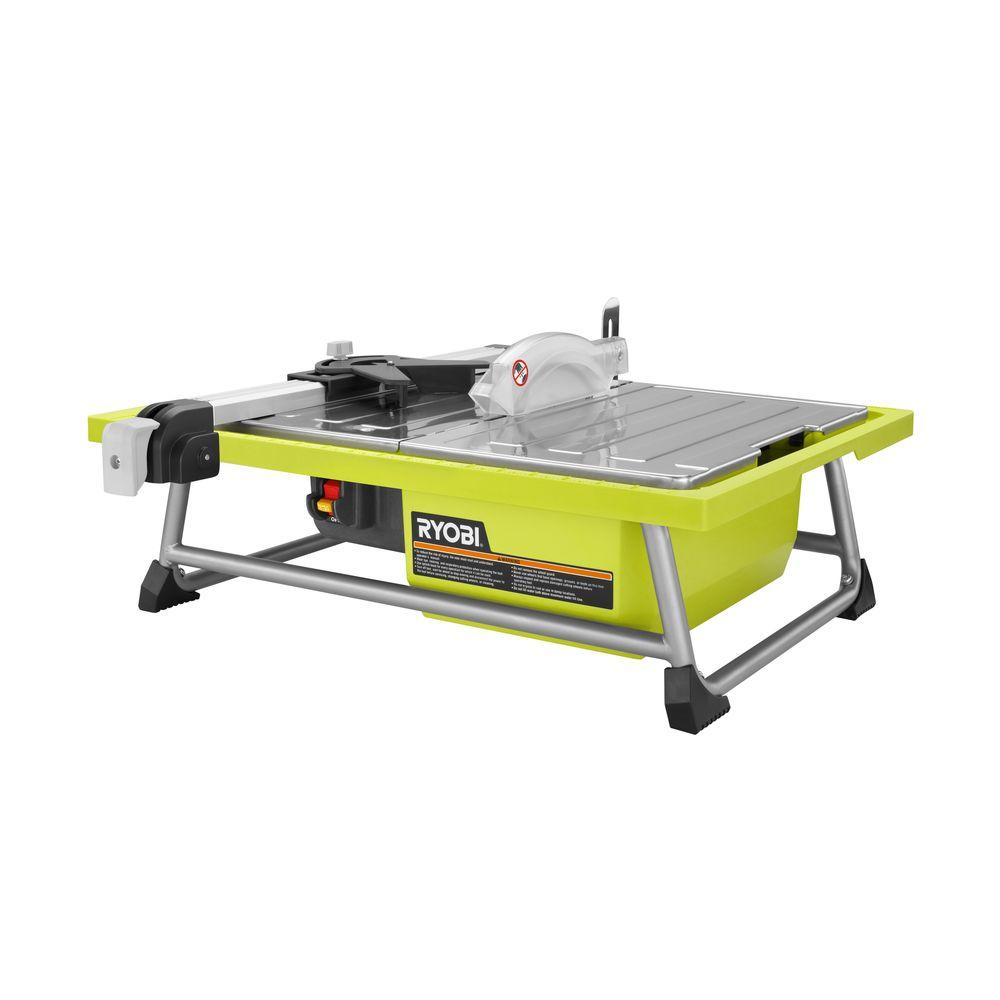 Ryobi 7 in 48 amp tabletop tile saw ws722 the home depot ryobi 7 in 48 amp tabletop tile saw greentooth Image collections