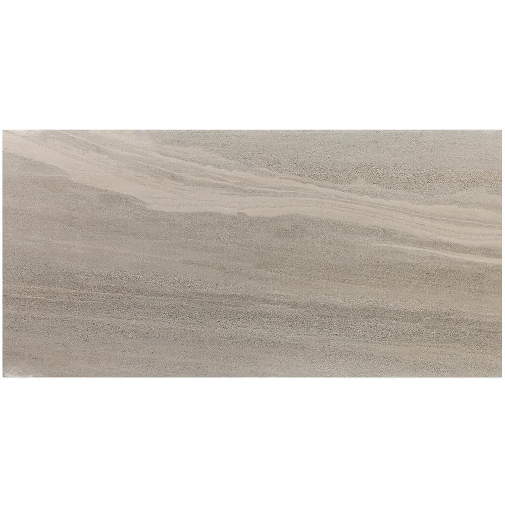 d09504bee14 Ivy Hill Tile Essential Gritstone Gray 12 in. x 24 in. 10mm Matte Porcelain  Floor and Wall Tile (8 pieces / 15.49 sq. ft. / box)