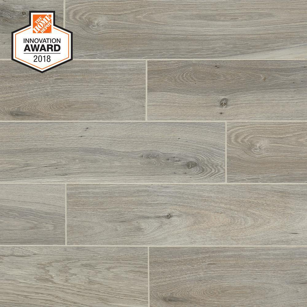 Lifeproof Ember Wood 6 In X 24 Glazed Porcelain Floor And Wall Tile 14 55 Sq Ft Case