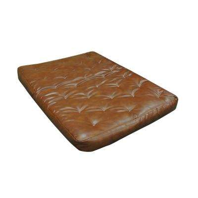 Full 8 In. Foam And Cotton Saddle Leather Futon Mattress