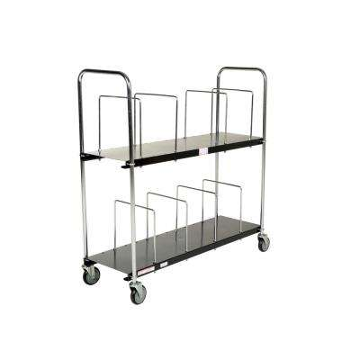18 in. x 56 in. Portable Carton Cart Two Tier